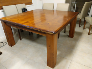 Solid Square Timber Dining Table For Sale Dining Tables Gumtree