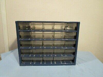 Vintage 25 Drawer Blue Raaco Metal Storage Cabinet Organizer Denmark