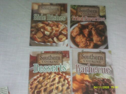 LOT OF 4 SOUTHERN COOKING COOKBOOKS FRIED FAVORITES BARBECUE SIDE DISHES DESSERT