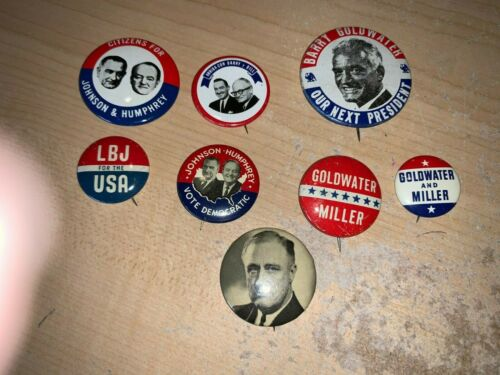 1964 Campaign Buttons - Set of 8