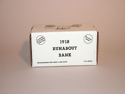 1988 Coastal 1918 Ford Runabout Bank  Diecast 1 25 Ertl Mexico Mint In Box