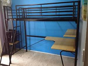 king single bunk bed with desk and king single mattress (optional Cumberland Reach Hawkesbury Area Preview