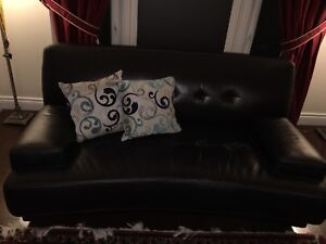 Black Gorgeous leather couch for sale