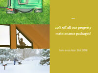 SAVE 20% OFF PROPERTY MAINTENANCE PACKAGES