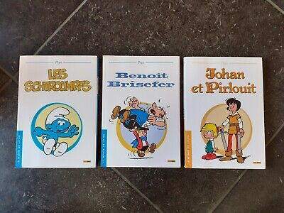 "3 BD ""les schtroumpfs""  ""Johan et Pirlouit"", ""Benoit Brisefer""   Peyo"