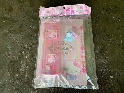 Sanrio Hello Kitty Value Pack 2 Pencils Notebook Eraser Stamp Clip Pencil Case ()