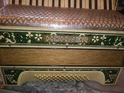 Hohner 1930's Chromatic Accordion. Great Sound. 2 sticky keys on keyboard.