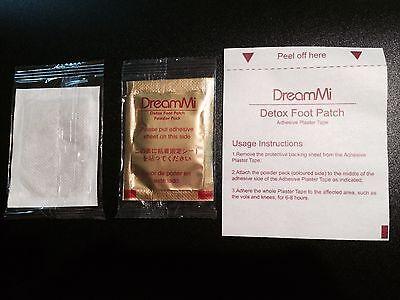 100PCS DreamMi GOLD Premium Detox Foot Patch Powder Pack+ Adhesive Plaster Tape