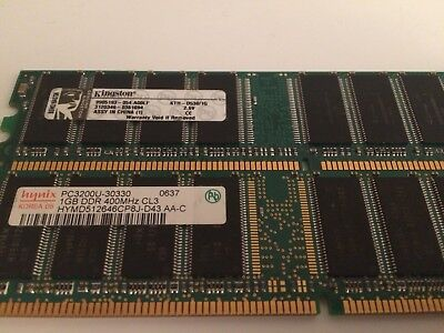 2- 1GIG DDR1 SO-DIMM PC MEMORY STICK RAM TESTED