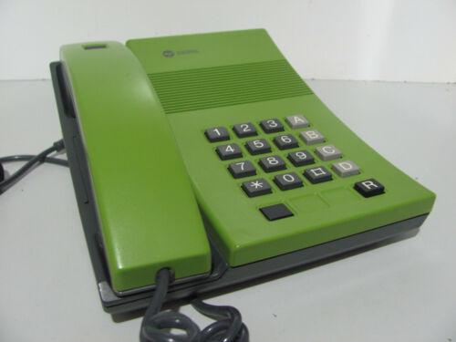 Rare 1980s Digitel Courier S550/23 Green Push Button Desk Telephone Working