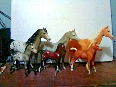 6-Vintage Breyer Traditional Arabian family sets, 3 mares 3 foals.