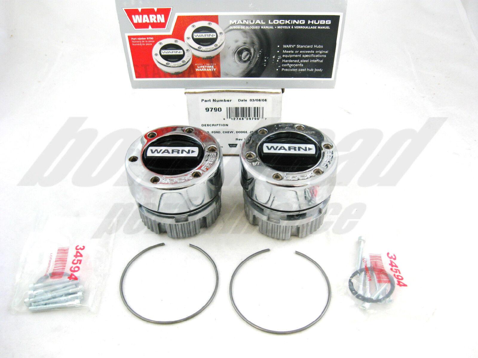 Warn 9790 Chrome 4x4 Locking