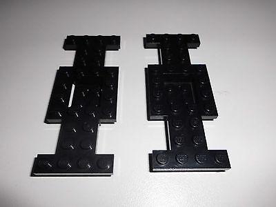LEGO 2 4212B 2 FAHRGESTELLE 4X10X2 3 IN SCHWARZ AUS 6484 1349 5936 6490