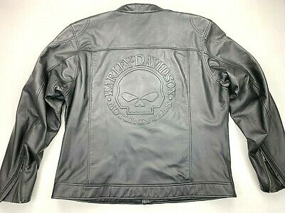 Harley Davidson Willie G Skull Axel Embossed Leather Jacket 2XL 98017-10VM Rare
