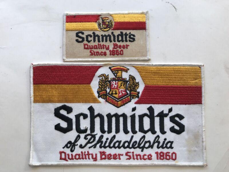 2 Different Schmidt's Beer Vintage Patches