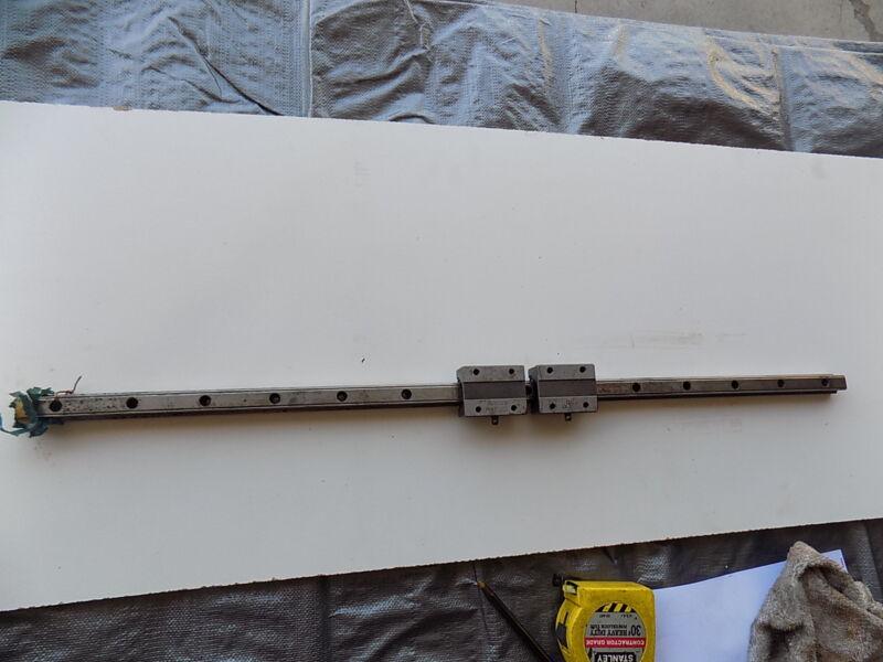 ROUNTER CNC LINEAR ACTUATOR slide rail 33 in long THK20TBA bearing block A4