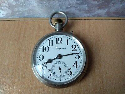 RARE Antique OLD Longines swiss pocket watch Vintage