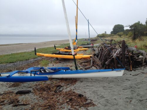 Triak Sailing Kayak with Main and Spinnaker - Good Condition