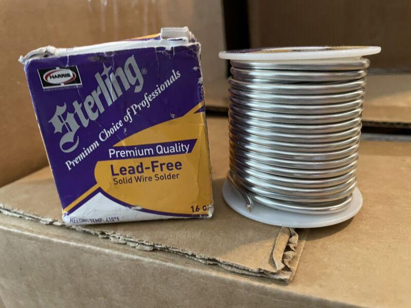 "Sterling Premium Lead-Free Solid Wire Solder .118"" 331755 16 oz / 1 lb spool"