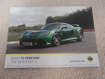 Lotus The New Exige S Photo Card - Mint
