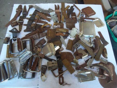 Vintage Steamer Trunk hinges- handles hardware lot