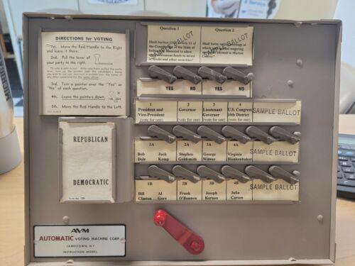 AVM Automatic Voting Machine Instruction model