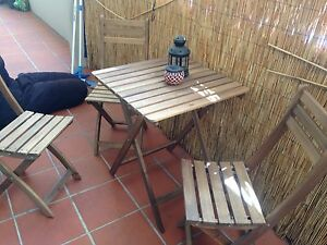 Table and 3 chairs with cushion (outside) Surry Hills Inner Sydney Preview