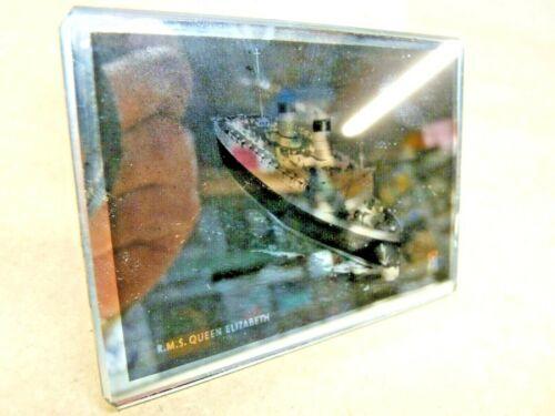 Souvenir Mirror RMS Queen Elizabeth 1930-50