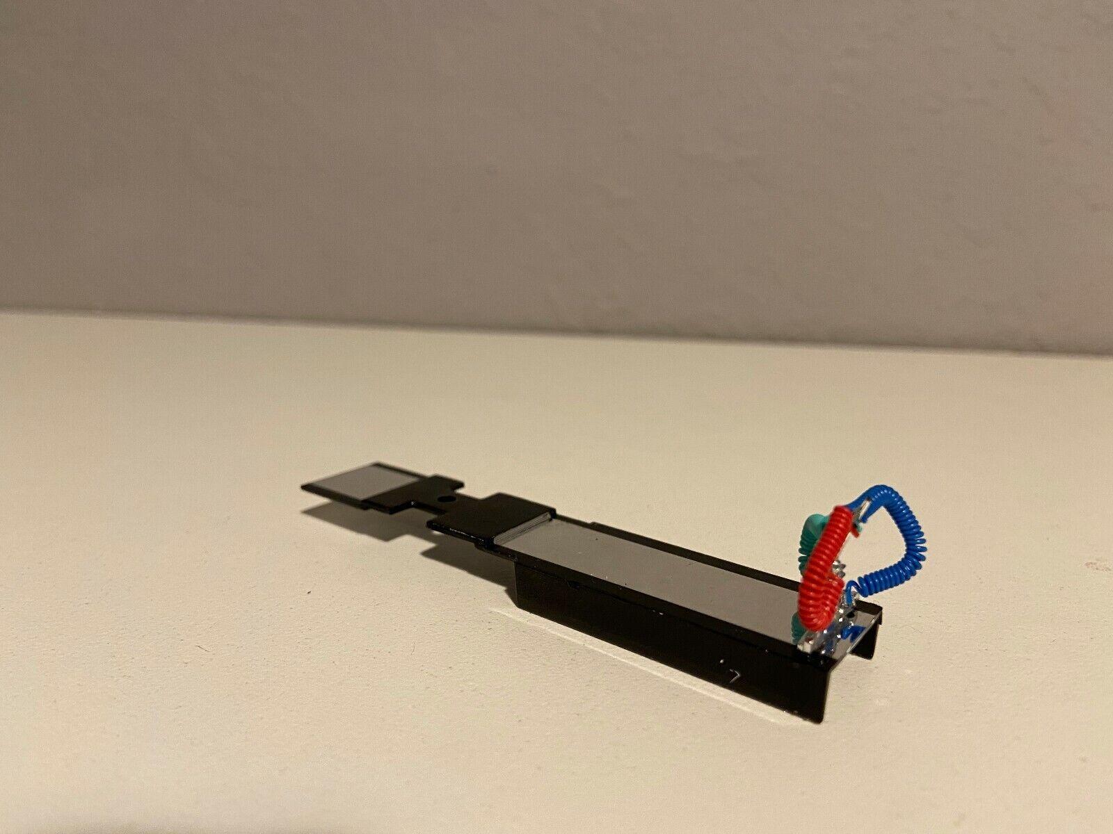 """BLACK & CHROME DCP 1/64 PETERBILT 379/389 DECK PLATE 3 1/2"""" LONG W/ POGO"""