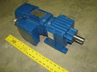 Sew-eurodrive R27drs71s4be05hf 12 Hp 170060 Rpm 3 Ph 277480v Gear Motor