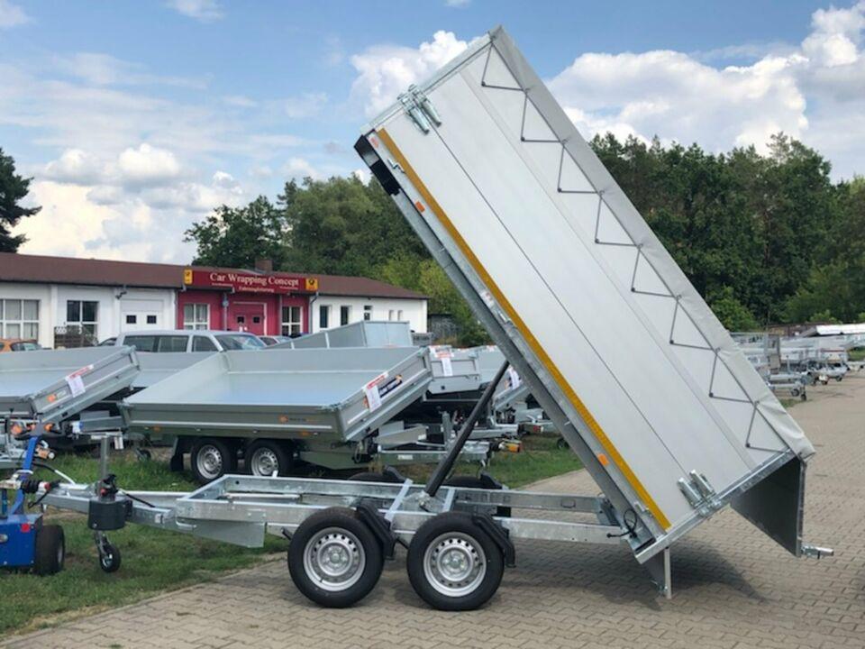 ⭐️ Anhänger Eduard Kipper 2700 kg 311x180x100cm Plane Alu NEU 72 in Schöneiche bei Berlin