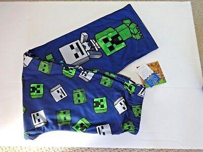 Minecraft Creeper Pants (Minecraft boys Creeper lounge pajama pants size L)