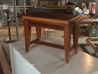 Solid Mahogany Piano Benches and End Table