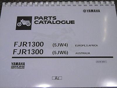 YAMAHA FJR 1300 PARTS LIST MANUAL CATALOGUE 5JW4  5JW6 2001 2A5JW 300E1.