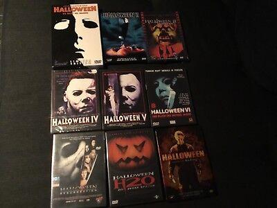 Halloween (1-8 u. Remake, uncut, rar, out of print, teilw. OVP, Michael Myers)