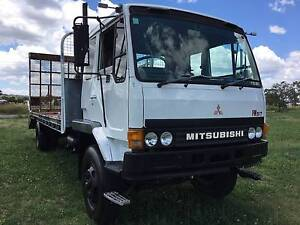 Mitsubishi FM517 Turbo 4x2 Beavertail/Traytop Truck.Ex Telstra Inverell Inverell Area Preview