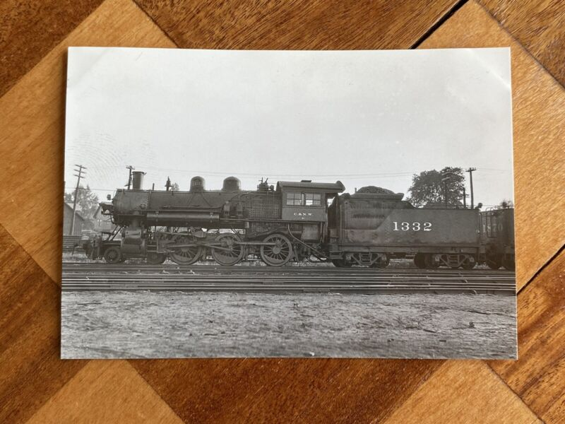 Chicago North Western Railroad Locomotive 1332 Vintage Photo C&NW