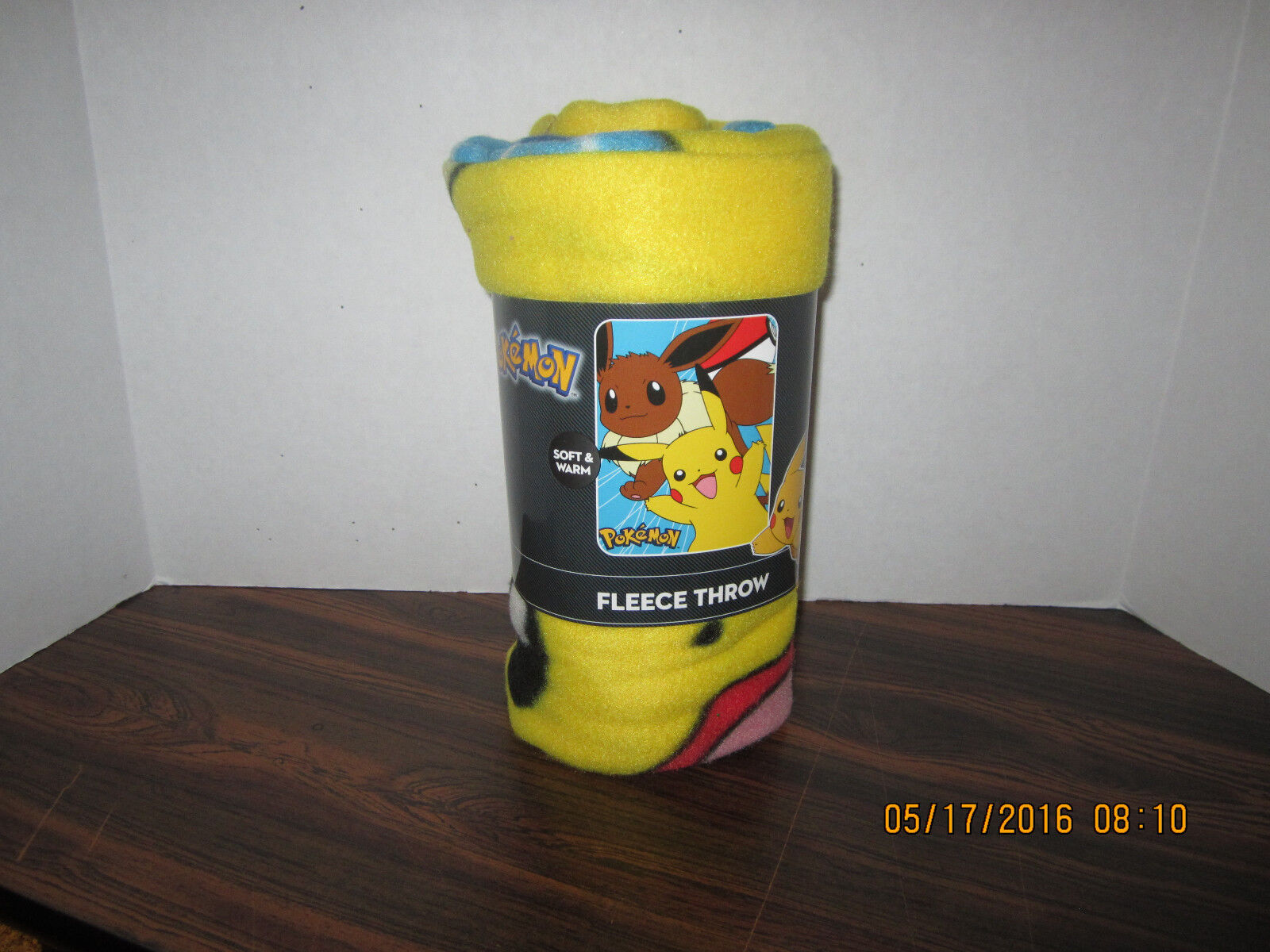 Pokemon Nintendo Pikachu & Eevee 40 x 50 Fleece Throw