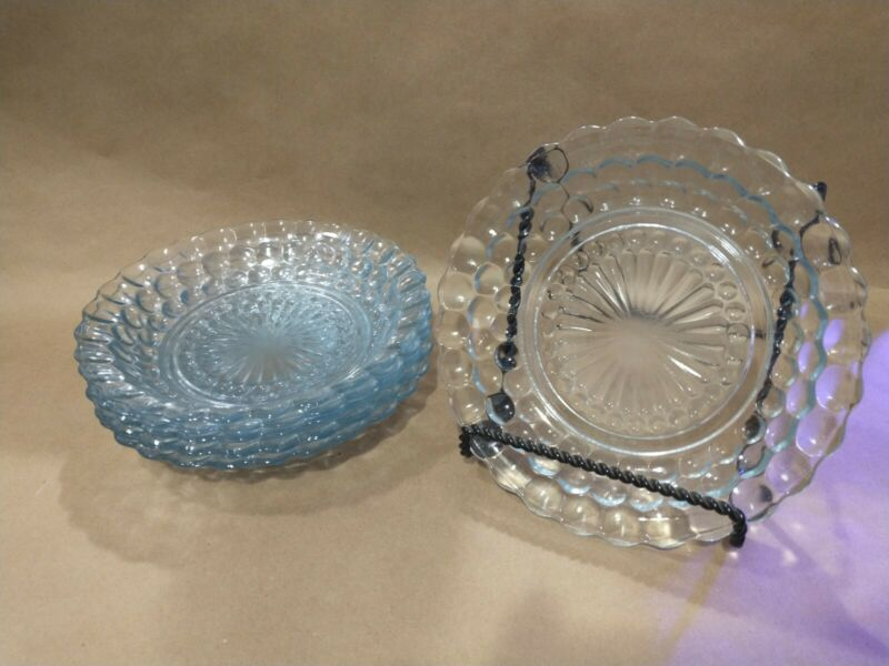 """Bubble"" Flat Soup Bowl Set of 6, Light blue, 7 3/4 Inch"