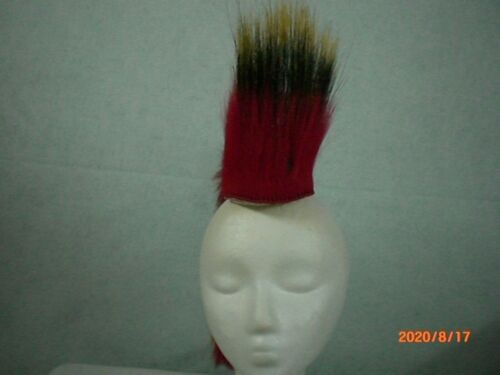 Porcupine Roach, Red, 18 inch Out, White Yarn Base