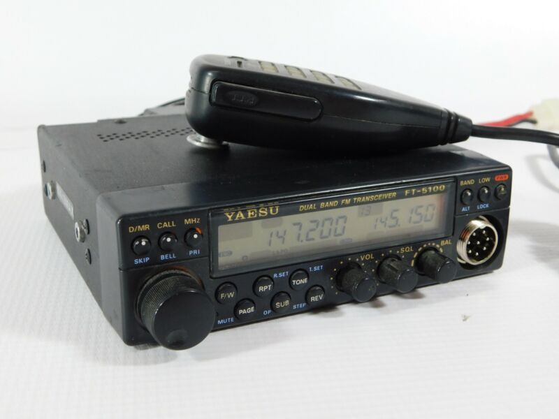 Yaesu FT-5100 FM Dual-Band Ham Radio Mobile Transceiver w/ Mic (works well)