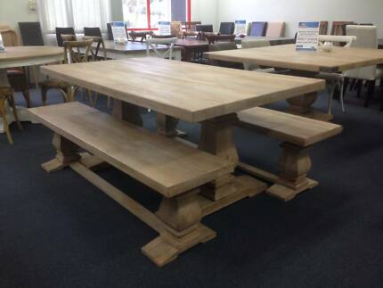 MONTY DINING TABLE CM SOLID MANGO WOOD TOP  Dining Tables