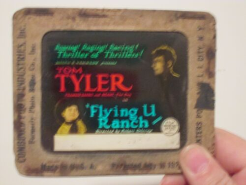 Flying U Ranch - Original 1927  Movie Glass Slide - Tom Tyler