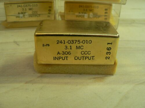 8 Collins Filter Band Pass 241-0375-010 New Old Stock