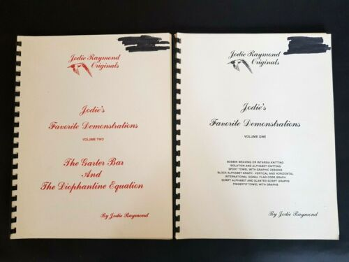 BK175 BROTHER KNITTING MACHINE JODIE RAYMOND ORIGINALS DEMONSTRATIONS BOOKS 1&2