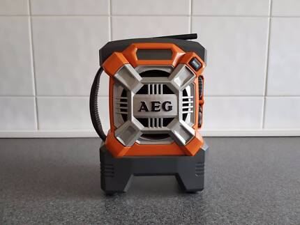 AEG 18V Portable Worksite Radio with AUX - Skin Only