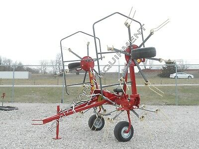 Sitrex RT5200H Pull Type 4 Rotor Hay Tedder, 17' Working Width, Hydraulic Lift