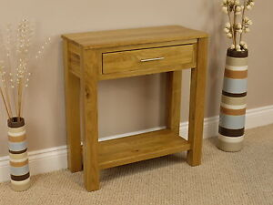 OAKLAND CHUNKY OAK HALL TABLE / SOLID 1 DRAWER SIDE CONSOLE TELEPHONE UNIT SHELF