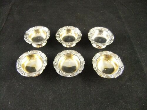 Set of 6 Tiffany & Co. Sterling Silver Repousse Salt Dish