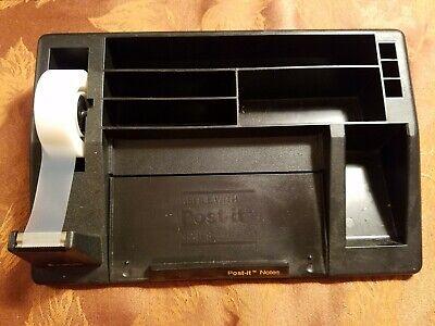 Vintage 3m C61 Scotch Tape Post It Penspencils Paperclips Black Desk Organizer